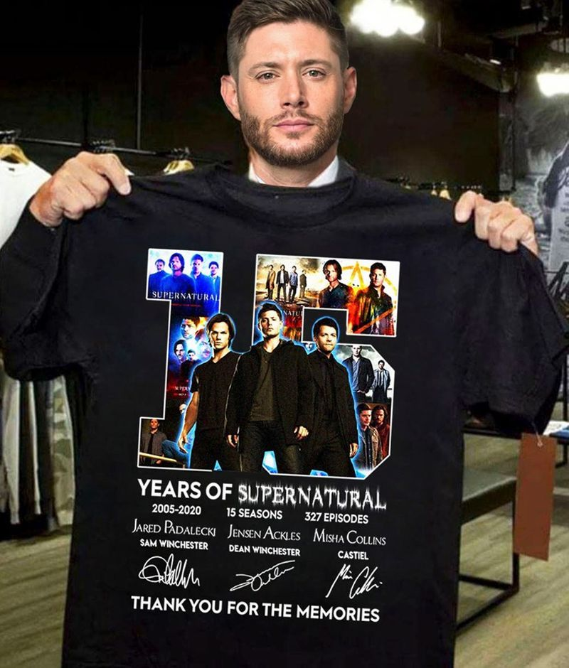 15 Years Of Supernatural Thank You For The Memories T-shirt Black