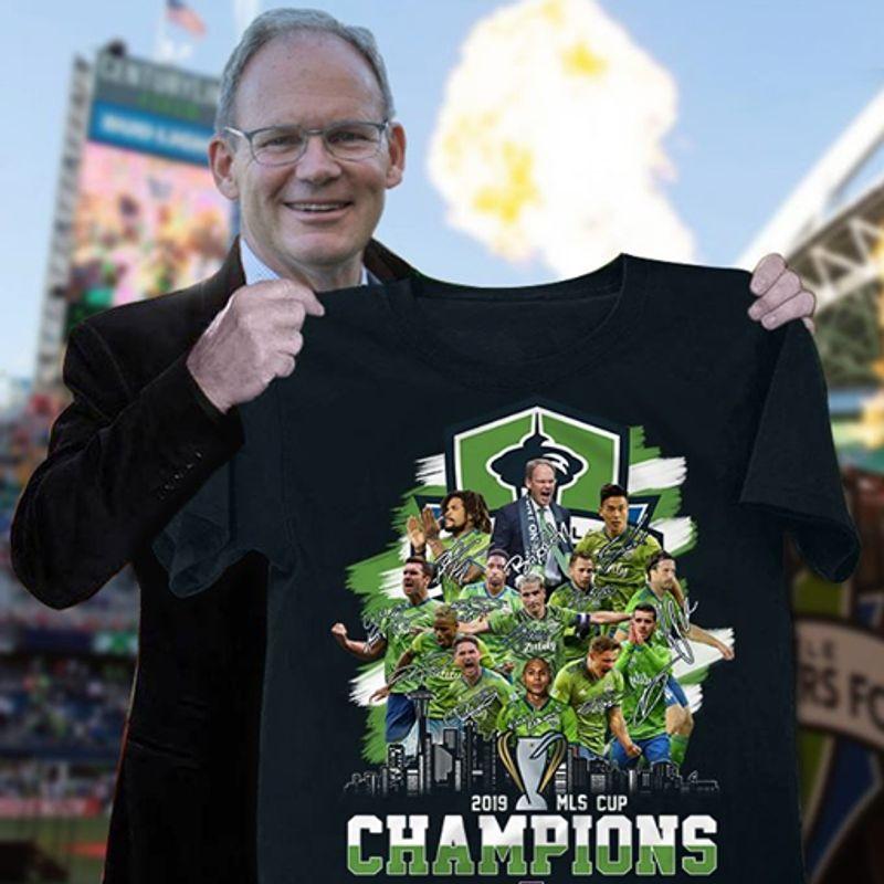 2019 Mls Cup Champions T-shirt Black B1