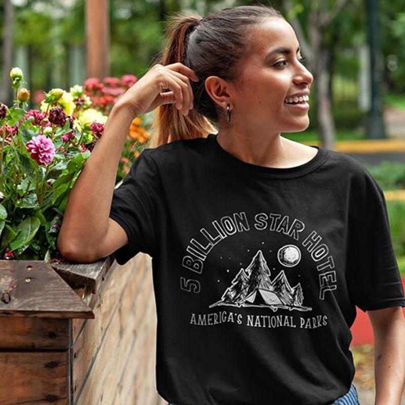 5 Billion Star Hotel Amercas National Parks T Shirt Black A4