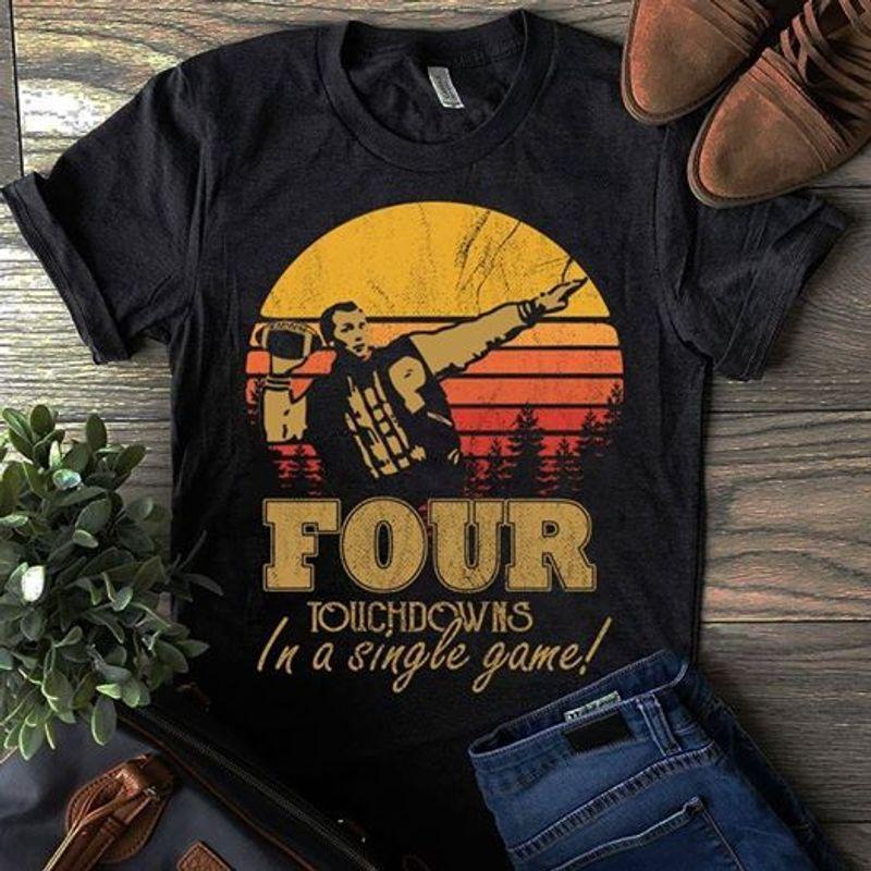 Al Bundy Four Touchdowns In A Single Game T-shirt Black