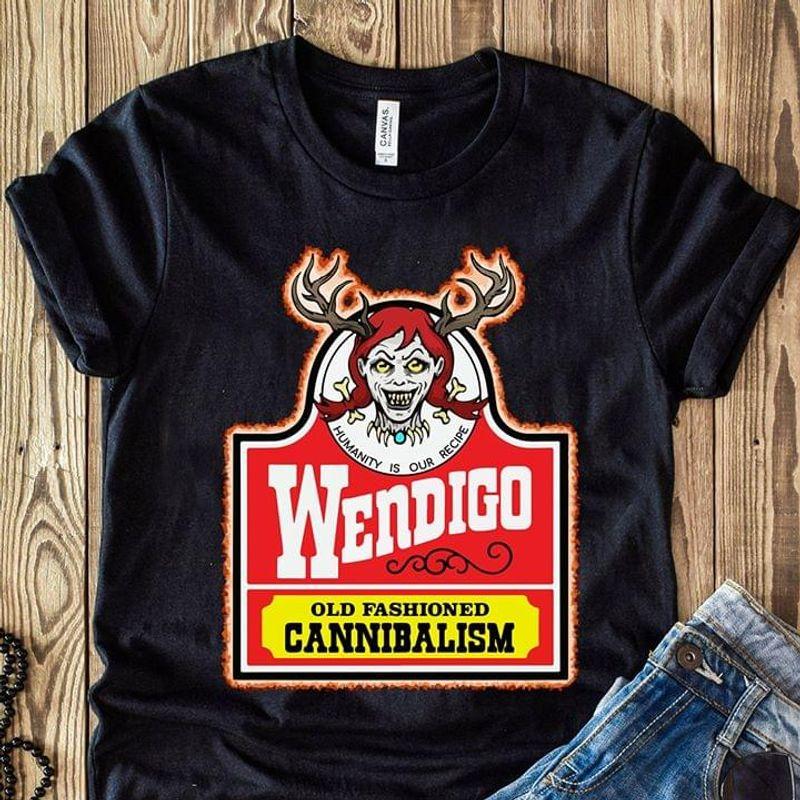 Algonquian Wendigo Shirt Wendigo Old Fashioned Cannibalism Shirt Black T Shirt Men And Women S-6XL Cotton