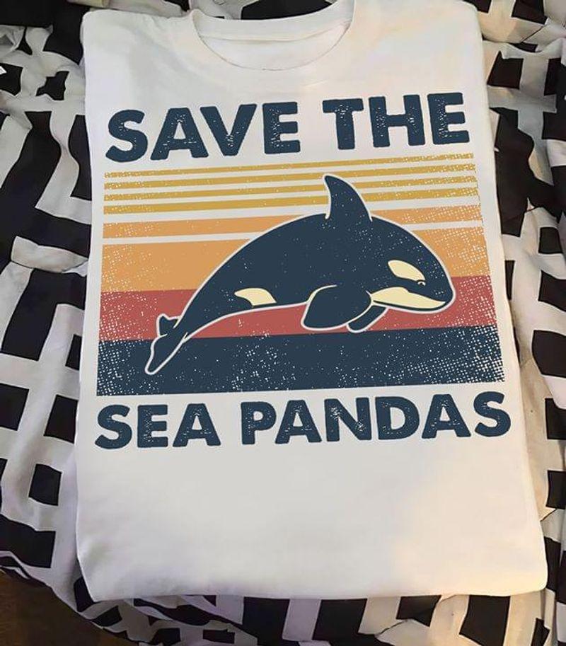 Amazing Appare Save The Sea Pandas White T Shirt Men/ Woman S-6XL Cotton