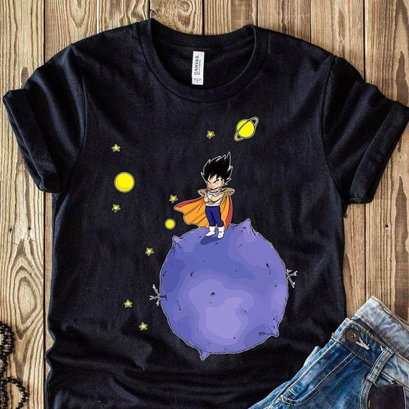 Anime Lovers Dragon Ball Z Vegeta Universe Fans Gift Black T Shirt Men And Women S-6XL Cotton