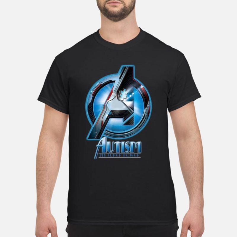 Avenger Logo Autism My Super Power T-shirt Black
