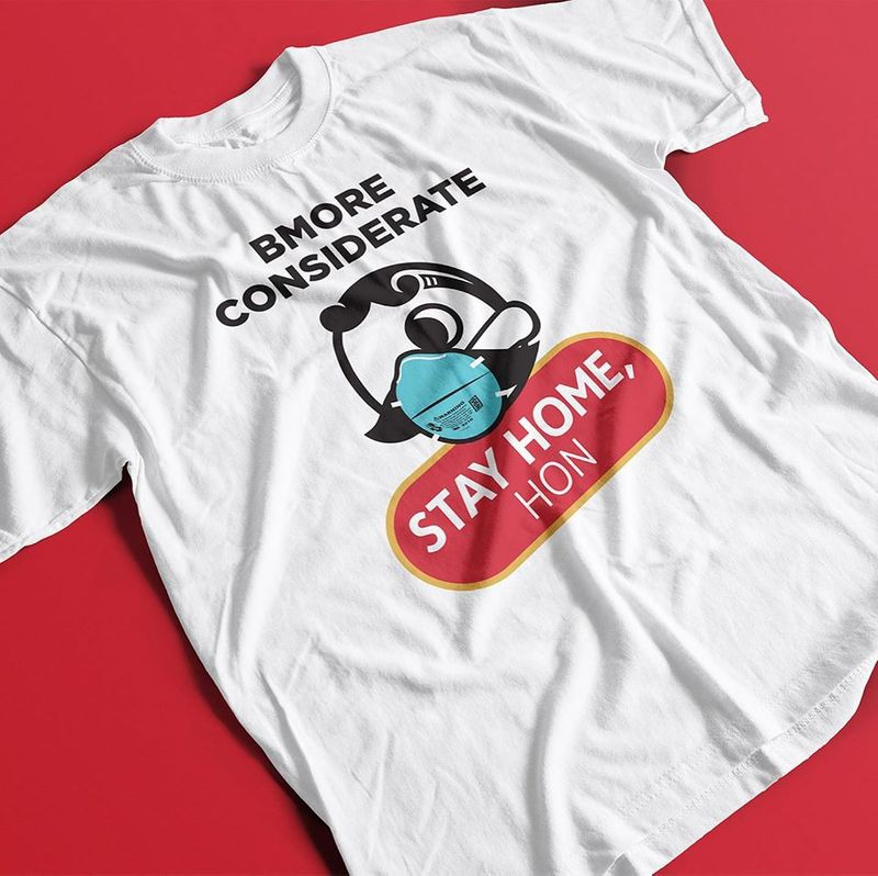 B More Considerate Stay Home Hon T Shirt White B1
