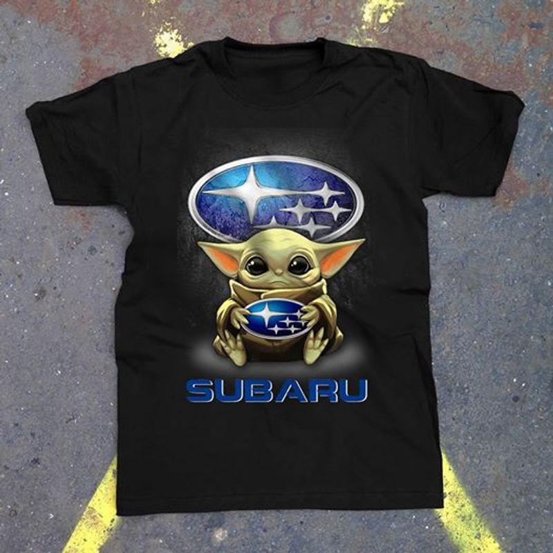 Baby Yoda Chicago Subaru Tshirt Black A2