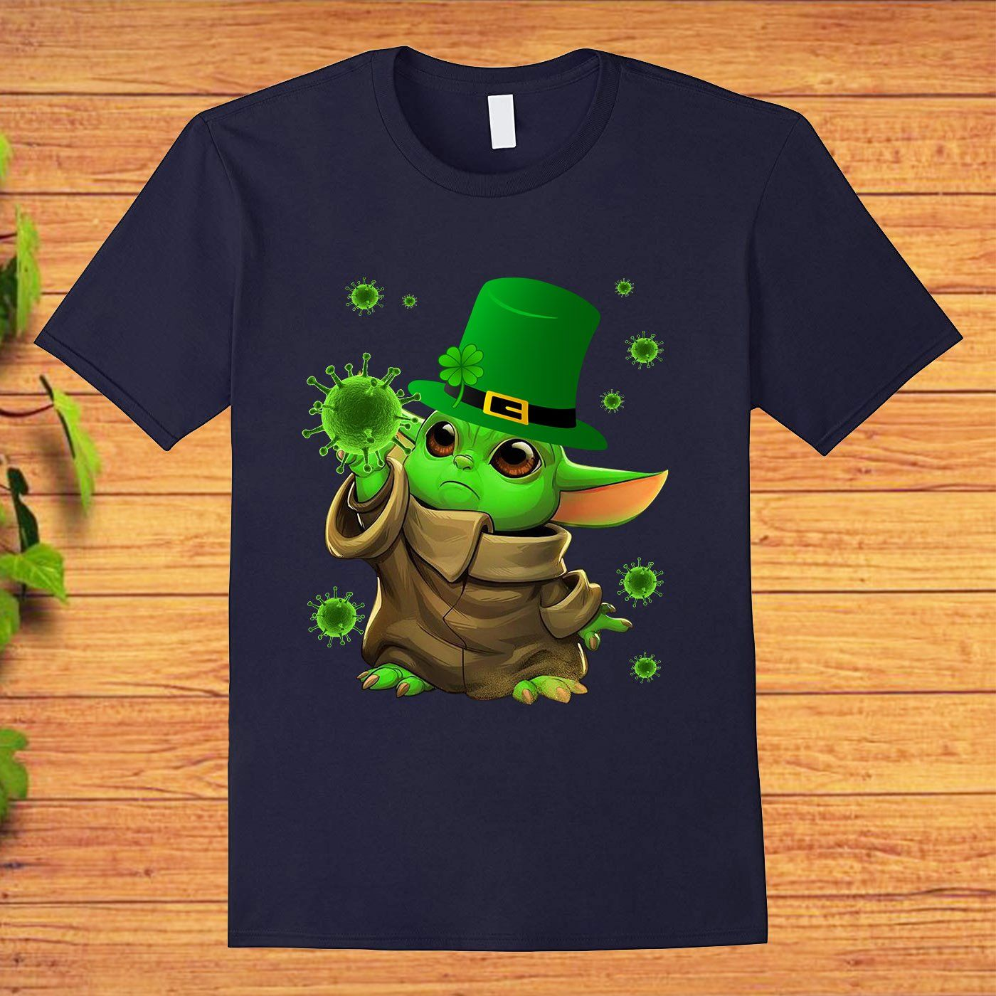 Baby Yoda Coronavirus COVID-19 St Patrick���s Day T-shirt