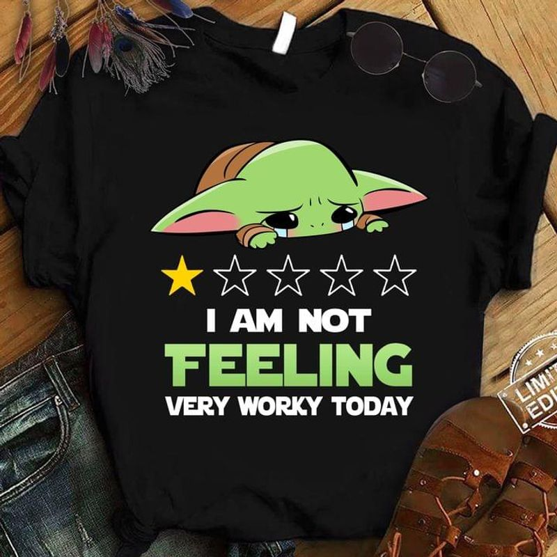 Baby Yoda Crying I Am Not Telling Very Worry Today Fan Gift Black T Shirt Men And Women S-6XL Cotton