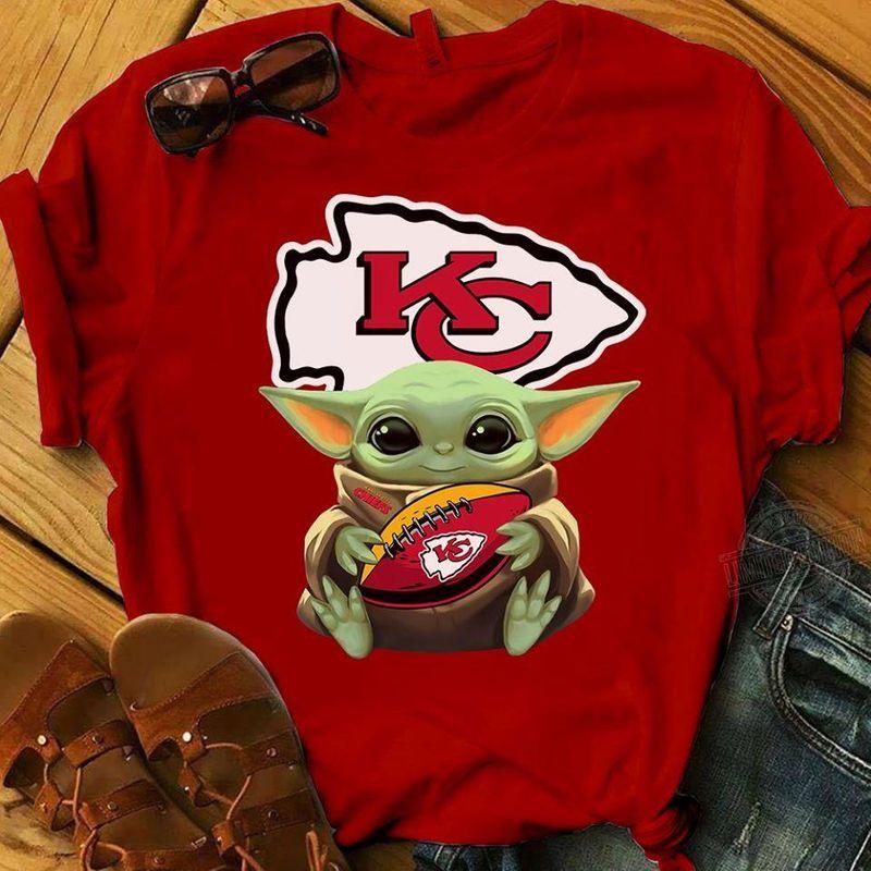 Baby Yoda Face San Francisco 49ers T Shirt Red