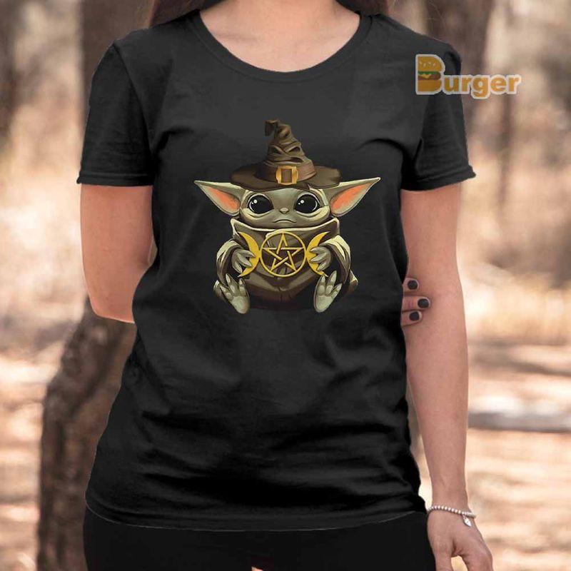 Baby Yoda Hug Harry Potter Tee Shirt Black