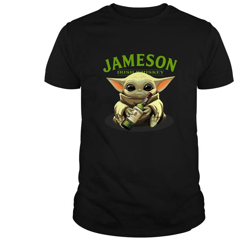 Baby Yoda Hug Jameson Irish Whiskey T-shirt – Black