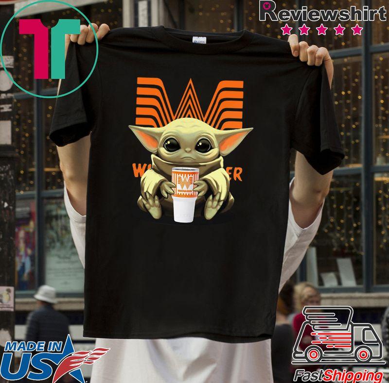 Baby Yoda Hug Whataburgers T Shirt Black