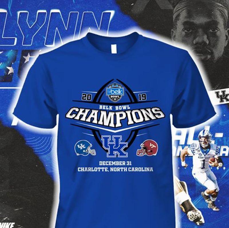 Belk Bowl Champions UK December 31 Charlotte T Shirt Blue A1