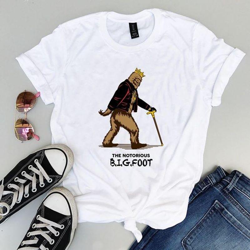 Bigfoot Mashup The Notorious White T Shirt Men And Women S-6XL Cotton