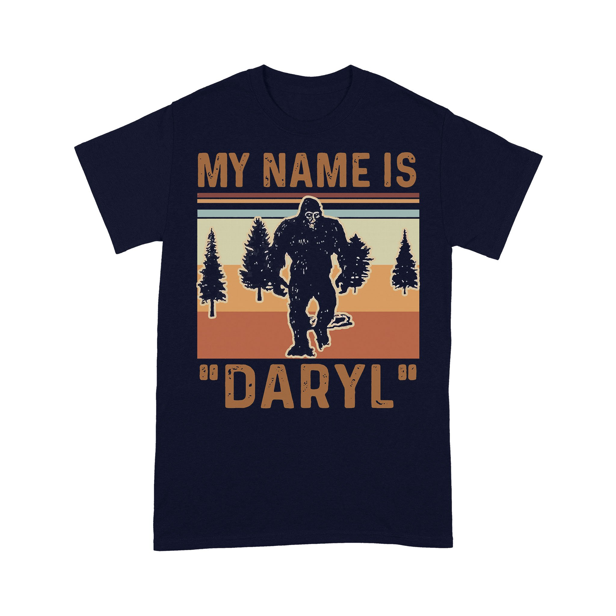 Bigfoot My Name Is Daryl Vintage Forest T-shirt