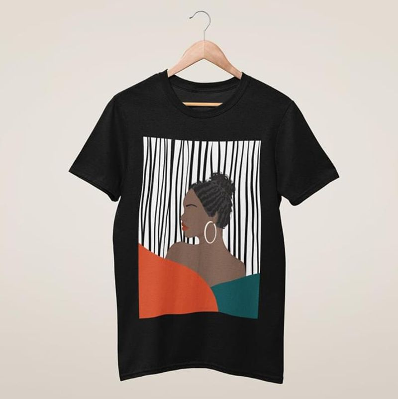 Black Girl Graphic Art Proud Black Gift For Friends Family Black T Shirt Men And Women S-6XL Cotton