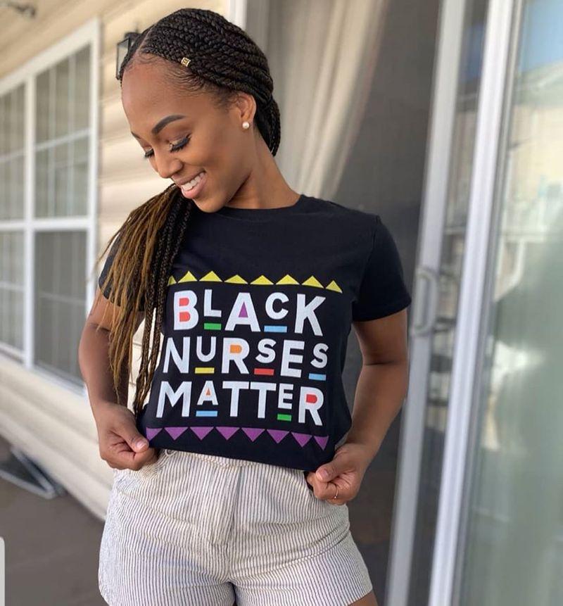 Black Nurses Matter T Shirt Black
