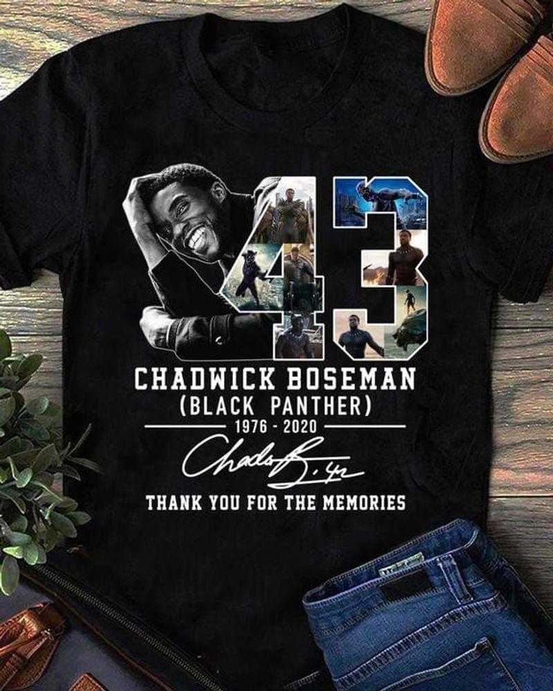 Black Panther Fan Gift Chadwick Boseman Signature Wakanda Forever Avengers Superhero Black T Shirt Men And Women S-6XL Cotton