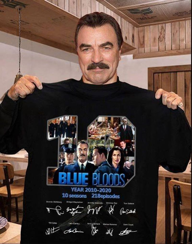 Blue Bloods Lovers 19 Years 2010 – 2020 Signature Black T Shirt Men/ Woman S-6XL Cotton