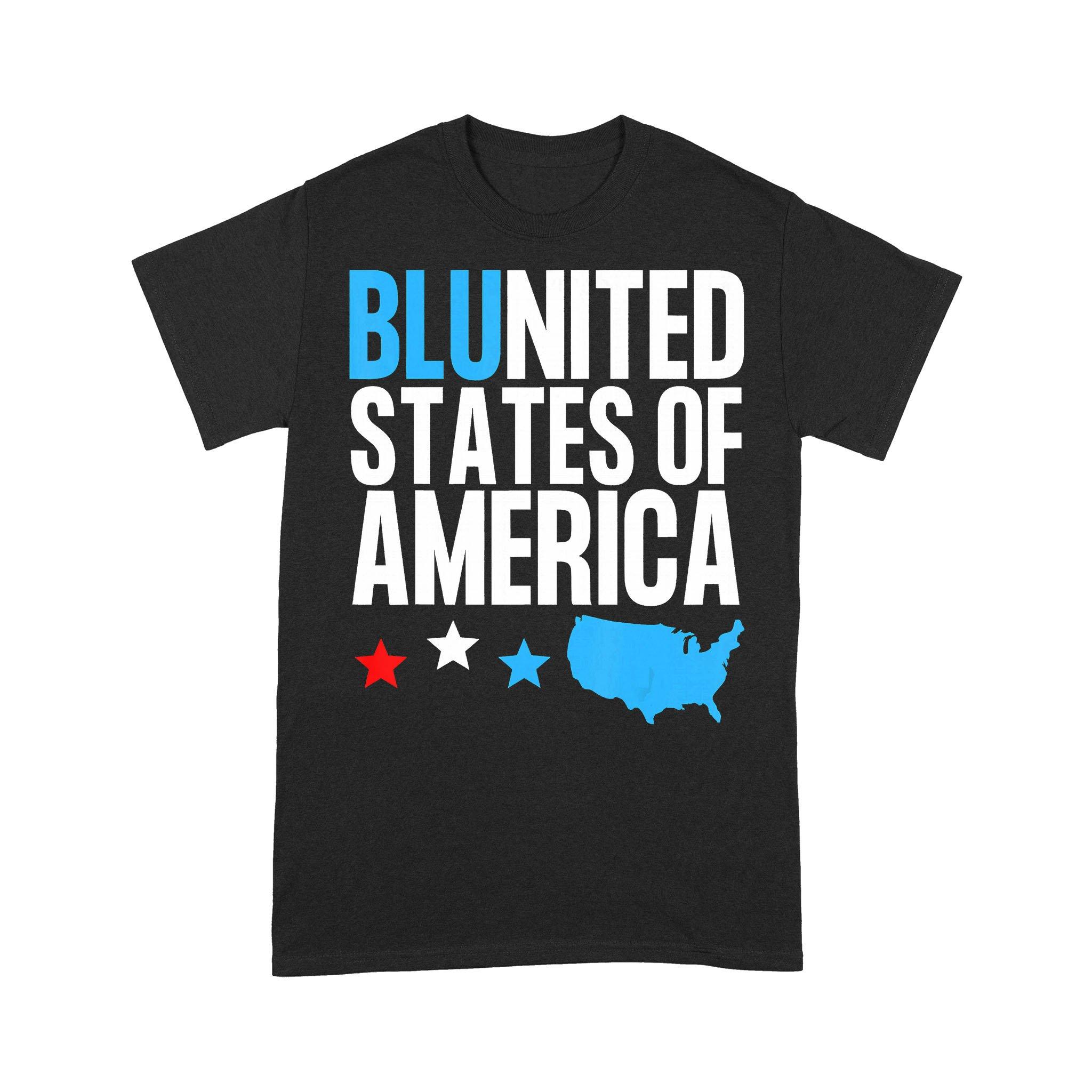 Blunited States Of America Map Stars T-shirt