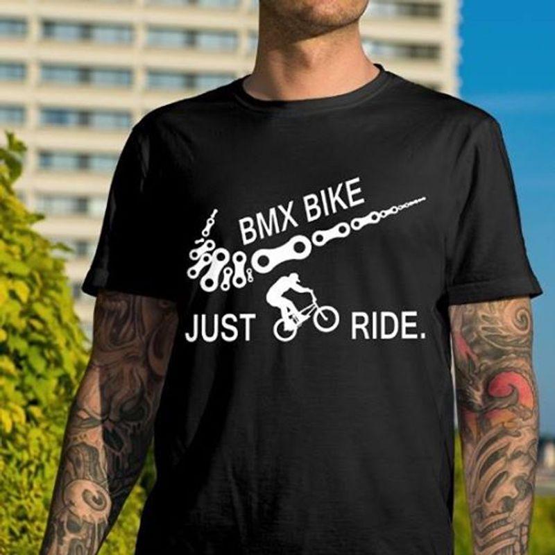 Bmx Bike Just Ride T Shirt Black A9