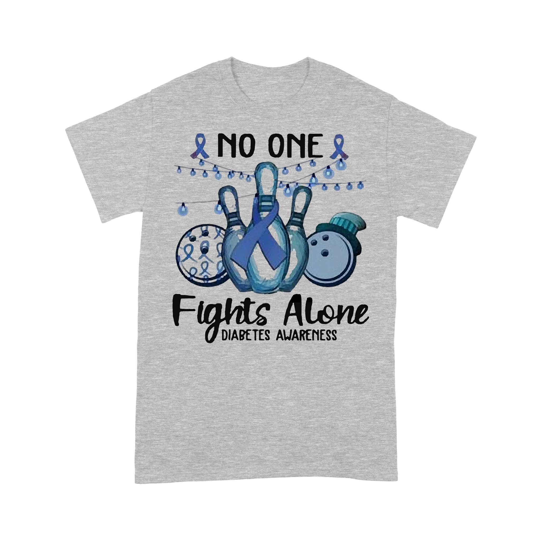 Bo Lings No One Fights Alone Diabetes Awareness T-shirt