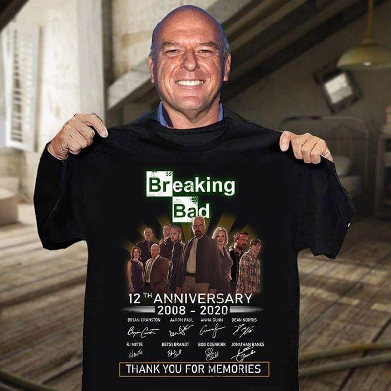 Breaking Bad Fans Shirt Breaking Bad 12th Anniversary 2008 2020 Shirt Black T Shirt Men And Women S-6XL Cotton