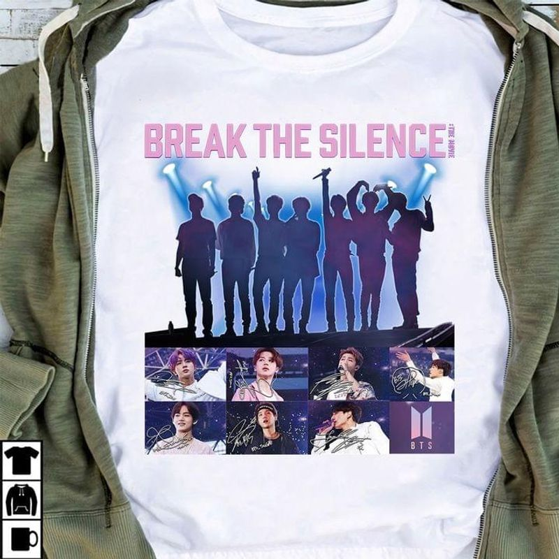Bts Break The Silence T-shirt Bts Army Fansk-pop Music Lovers Gift White T Shirt Men And Women S-6XL Cotton