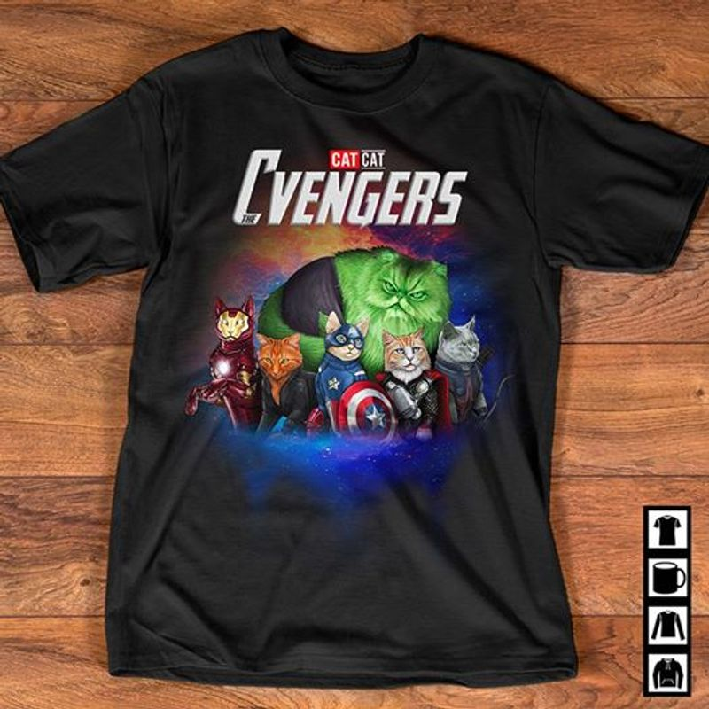Cat Cat Cvengers   T-shirt Black B1