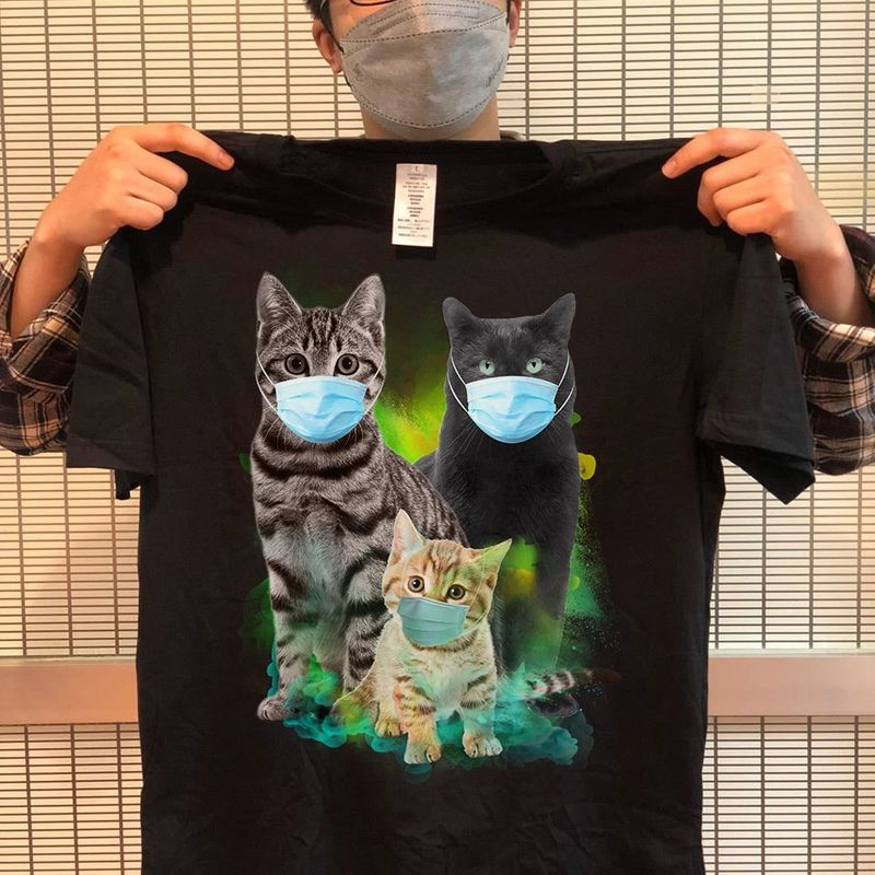 Cats In Pandemic T Shirt Black