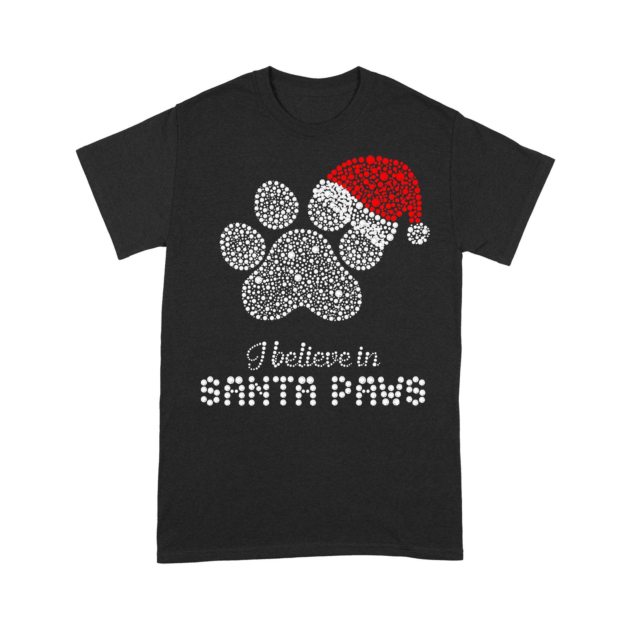 Christmas Santa Dog Paw Diamond T-shirt