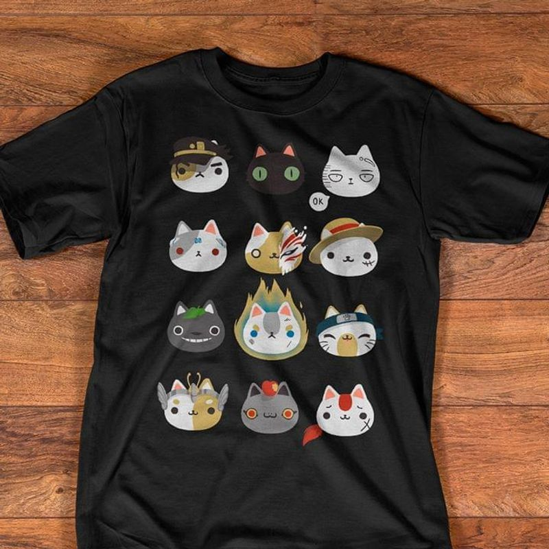 Cute Cat Sign Language Awesome Gift For Fans Of Cartoon Wearing Out The Town Black Shirt