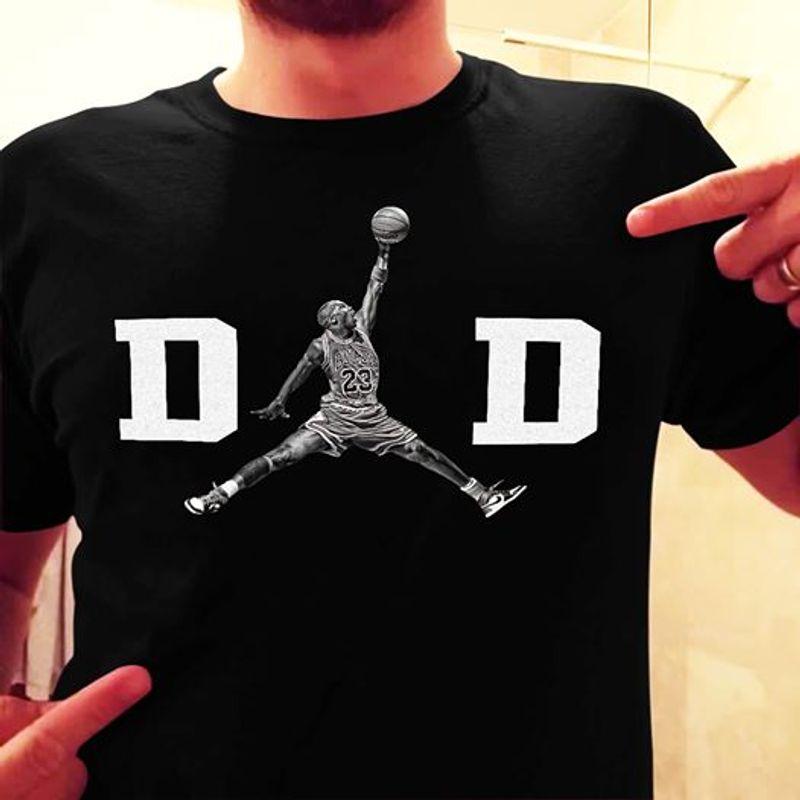 Dad Kobe Bryant Jordan T Shirt Black