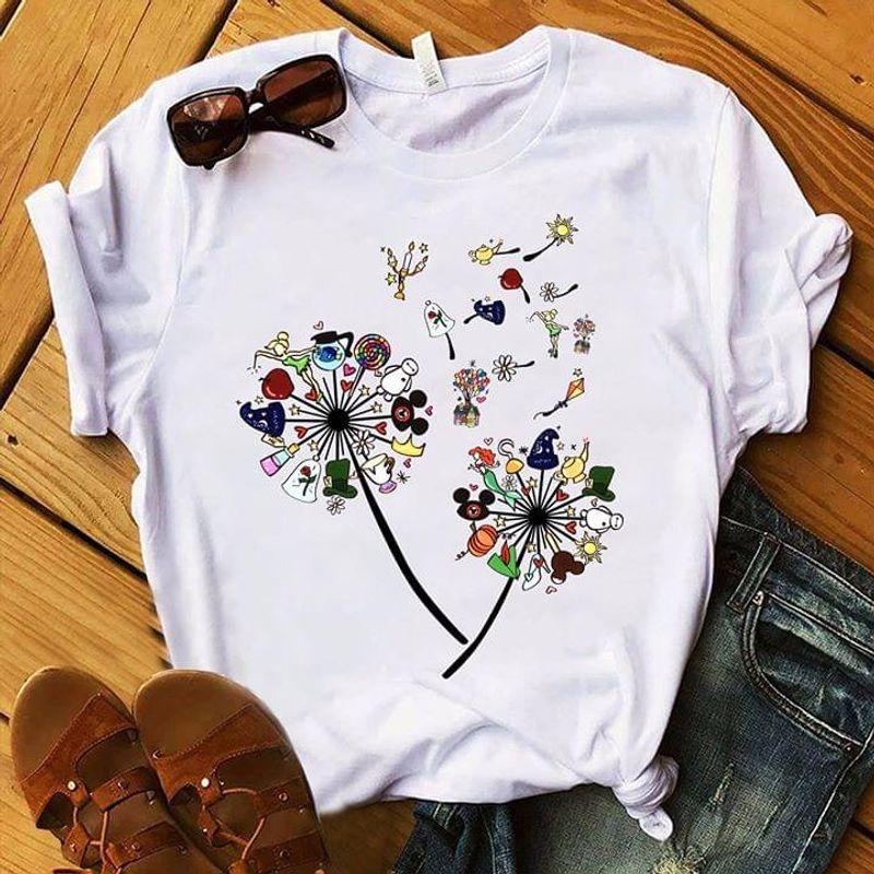 Dandelion Cartoon Movies Symbols Lovely Gift For Girls Cartoon Lover White T Shirt Men And Women S-6XL Cotton