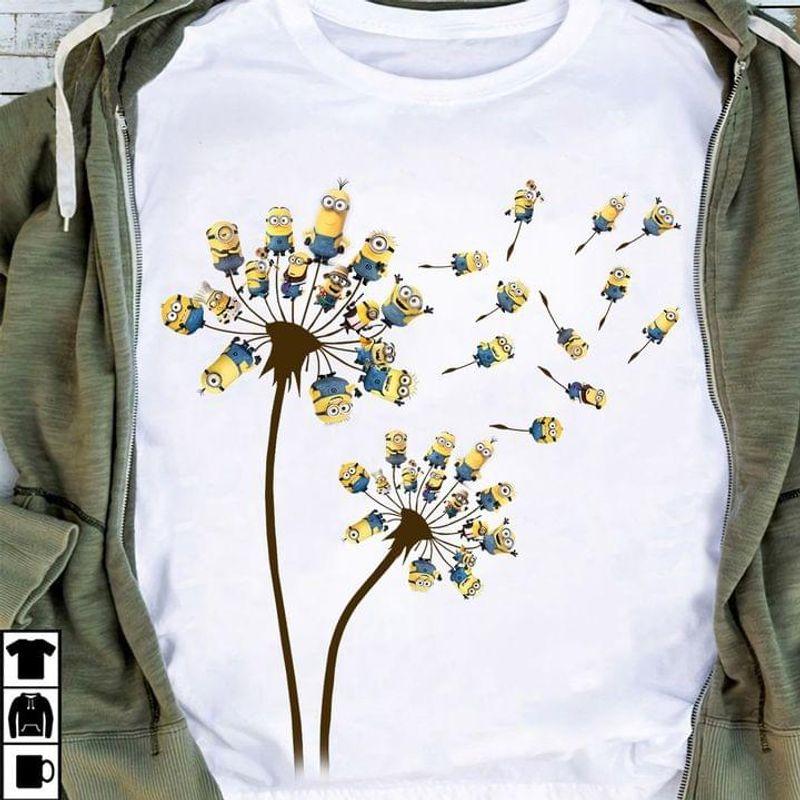 Dandelion Minions Funny T-shirt Minions Lovers Halloween Christmas Gift White T Shirt Men And Women S-6XL Cotton