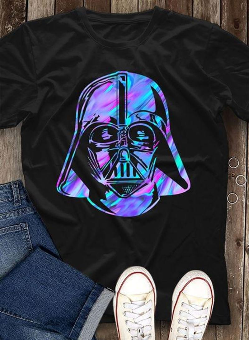 Darth Vader Face Suitable For Group Of Boys Who Fans Of Star Wars Black T Shirt Men/ Woman S-6XL Cotton
