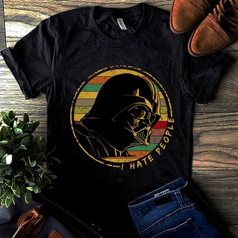 Darth Vader I Hate People T-shirt Black A4
