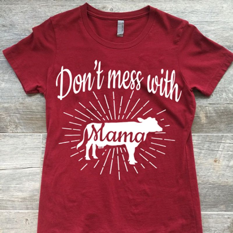 Dont Mess With Slama T-Shirt Red B4