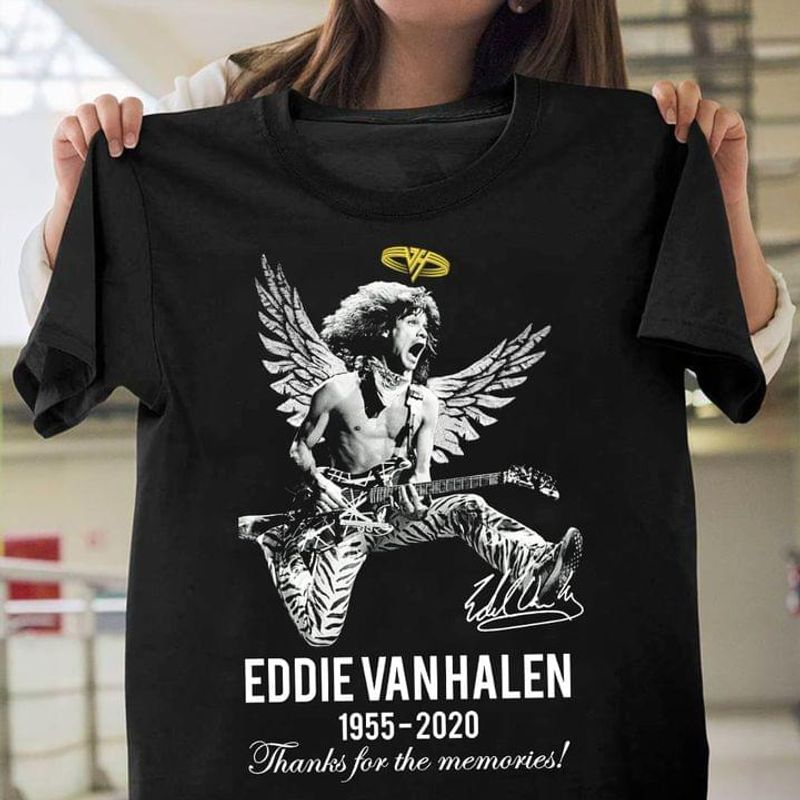 Eddie Van Halen Signature Who The F##k Is Eddie Van Halen Fan Gift Black Cotton T Shirt Unisex Size S-6XL US