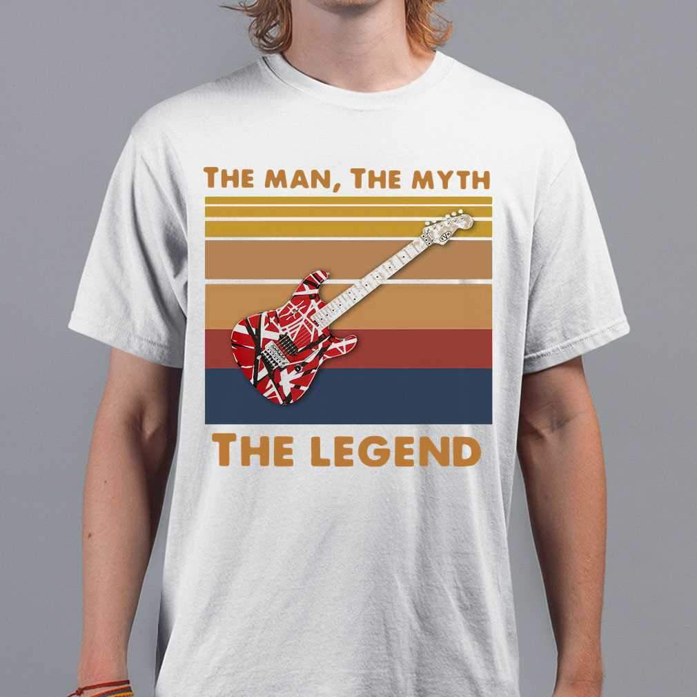 Electric Guitarist The Man The Myth The Legend Vintage T-shirt