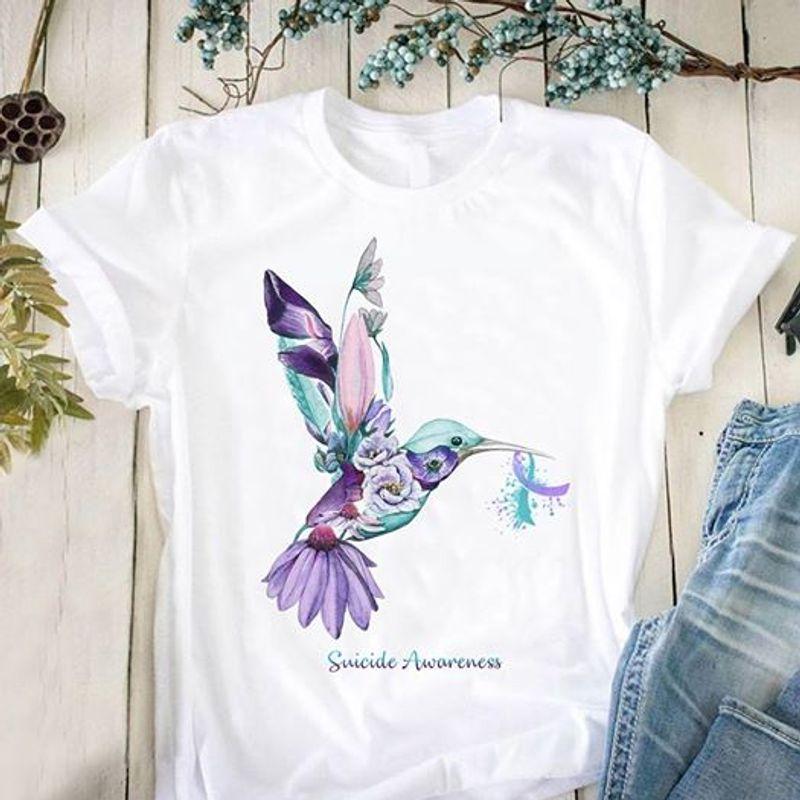 Elephant Faith Hope Love Autism  T-shirt White A5