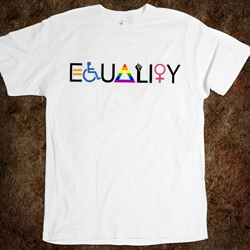 Equality For Disability Lgbt T Shirt White