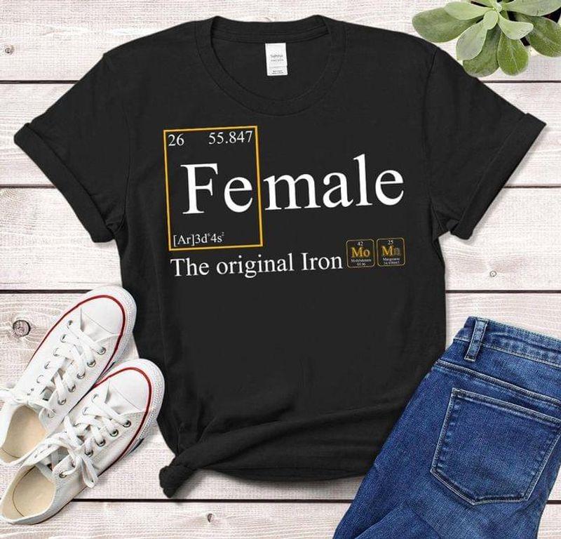 Fe Female The Original Iron Ideal T-shirt For The Iron Women Black T Shirt Men And Women S-6XL Cotton