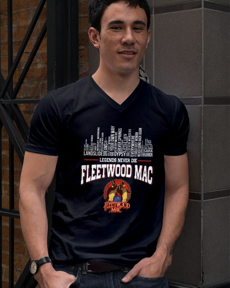 Fleetwood Mac Legends Never Die Black T Shirt Men/ Woman S-6XL Cotton