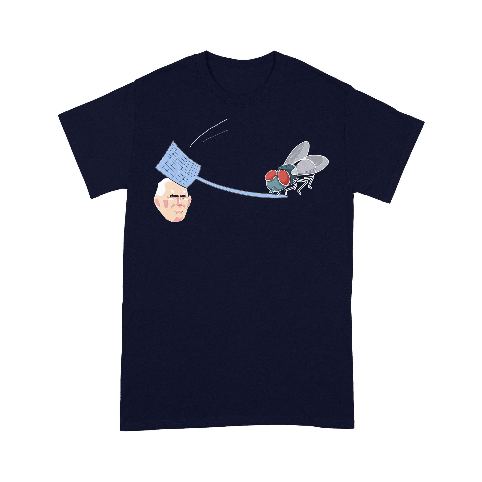 Fly Hits Pence White Swatter Biden Harris Debate T-shirt