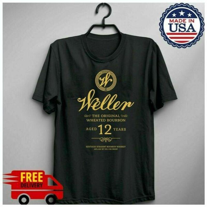 Freeship Wl Weller 12 Year Kentucky Straight Bourbon Whiskey T-Shirt Black S-6Xl