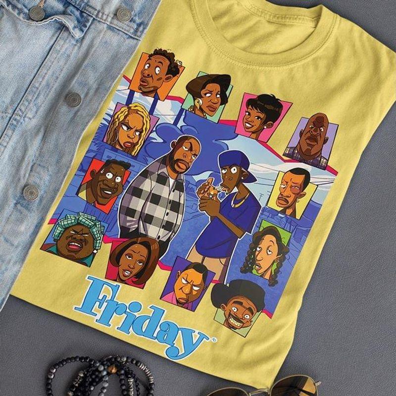 """Friday The Animated Series Craig Jones Willie Jones Betty """"Mom"""" Jones Yellow T Shirt Men And Women S-6XL Cotton"""