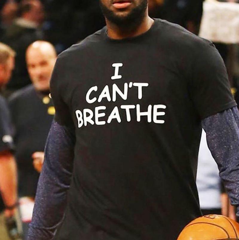 George Floyd I Can't Breathe #justiceforfloyd Black T Shirt Men/ Woman S-6XL Cotton