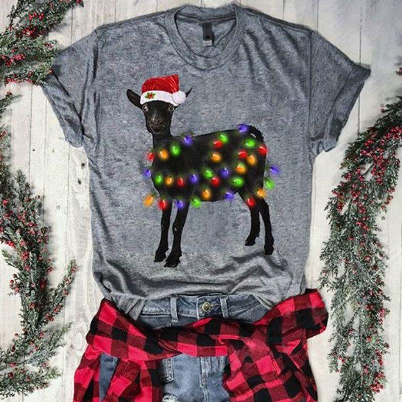 Goat Christms T-shirt Black A8