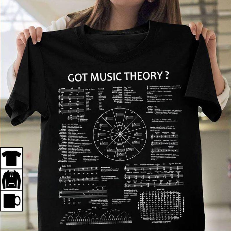 Got Music Theory Music Note T-shirt Black B4